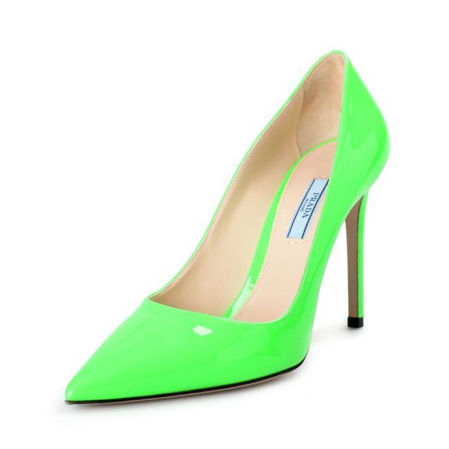 "Item - Lime Green Women's ""1i834i"" Patent Leather High Pumps Size US 9 Regular (M, B)"