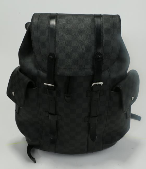Item - Gray Christopher Backpack Macassar Monogram Canvas Pm Men's Jewelry/Accessory