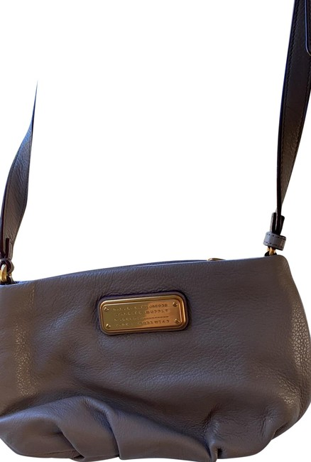 Item - Taupe Leather Cross Body Bag