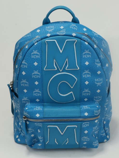 Item - Blue Backpack Logo Strip Leather Men's Jewelry/Accessory