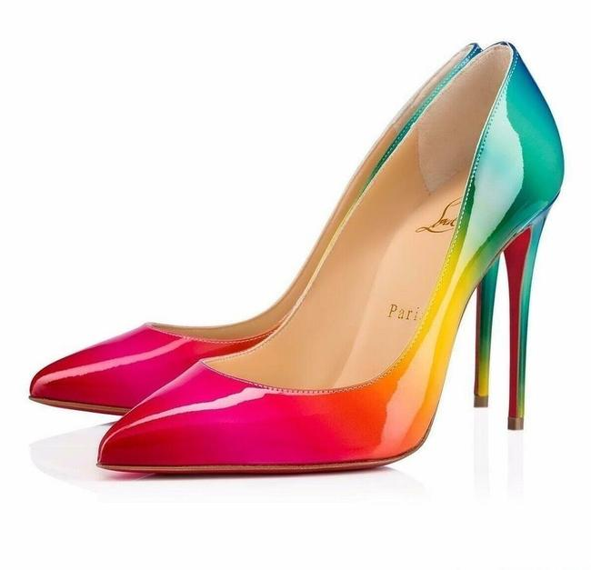 Christian Louboutin Multicolor Limited Edition Pigalle Follies 100mm Patent Leather Rainbow Pumps Size EU 36.5 (Approx. US 6.5) Regular (M, B) Christian Louboutin Multicolor Limited Edition Pigalle Follies 100mm Patent Leather Rainbow Pumps Size EU 36.5 (Approx. US 6.5) Regular (M, B) Image 1