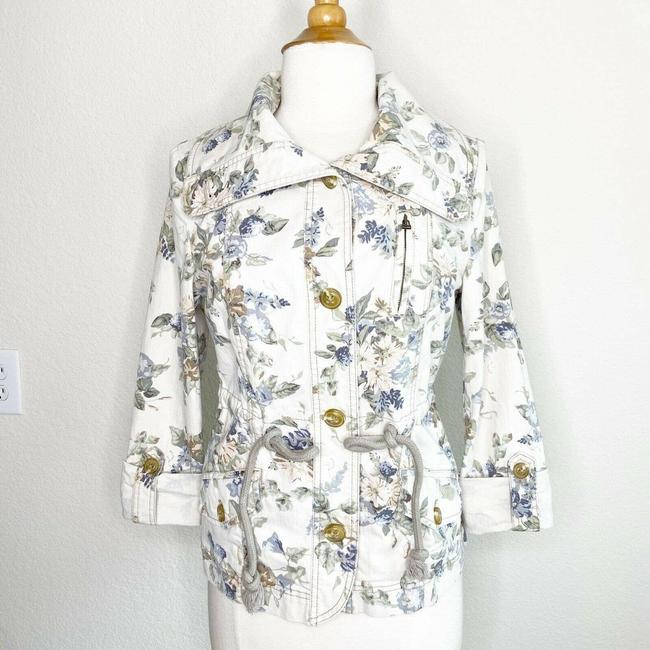 Item - Cream Daughters Of The Liberation Floral Utility Jacket Size 6 (S)