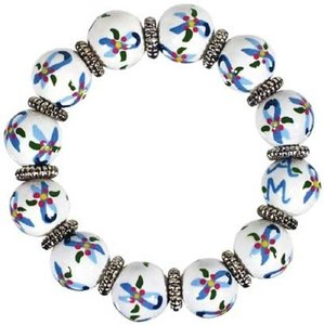 Angela Moore Angela Moore Classic Hand Painted Bracelet - Ovarian Ribbon