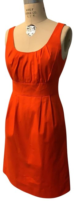 Item - Orange Mid-length Short Casual Dress Size 6 (S)