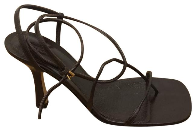 Item - Brown 630178 Strappy Lambskin Sandals Formal Shoes Size US 8 Narrow (Aa, N)