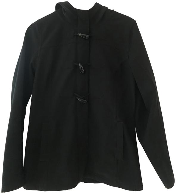 Item - Black Hooded with Toggle Buttons Jacket Size 8 (M)