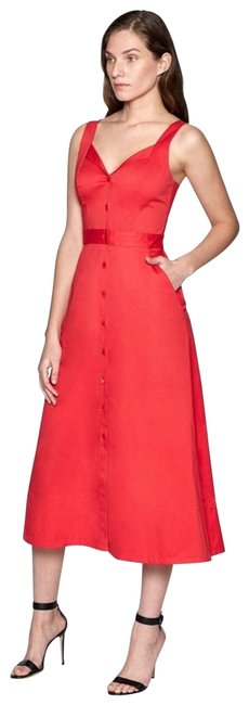 Item - Red Oleisa Button-front Escarlete Mid-length Cocktail Dress Size 0 (XS)