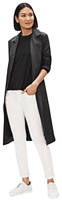 Eileen Fisher White Organic Cotton Leg Jeans High Waist Stretch Pants Size 14 (L, 34) Eileen Fisher White Organic Cotton Leg Jeans High Waist Stretch Pants Size 14 (L, 34) Image 1