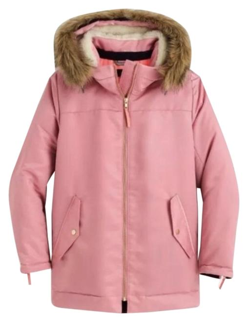 Item - Pink Cream Nylon Sherpa Lined Parka Jacket Quilted Lining Coat Size 8 (M)