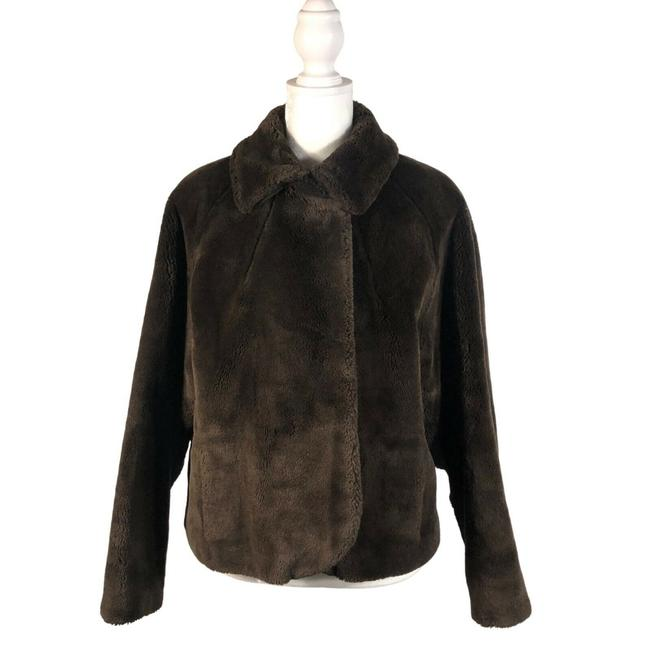 Item - Brown Women's Faux Coat Size 6 (S)