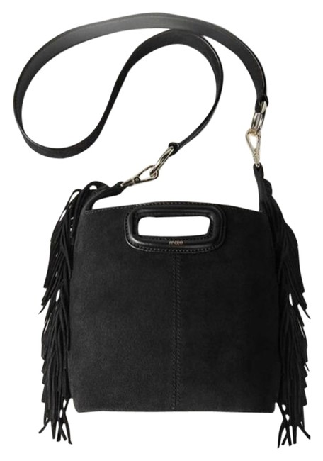 Item - Black Gold Suede Leather Cross Body Bag