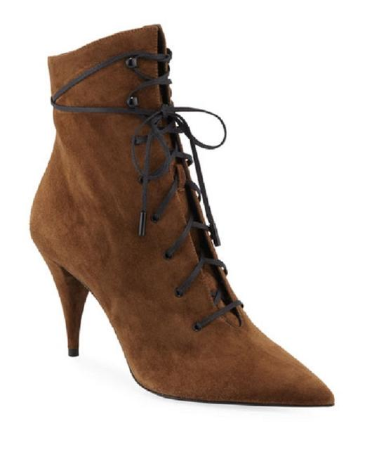 Item - Brown Kiki Suede Lace-up Victorian Boots/Booties Size US 7.5 Regular (M, B)