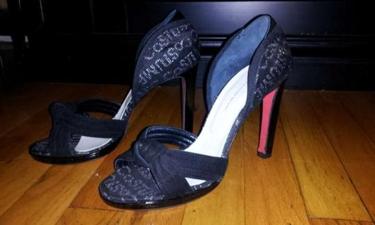 CoSTUME NATIONAL Cnc Red Sole Red Bottom Black Pumps