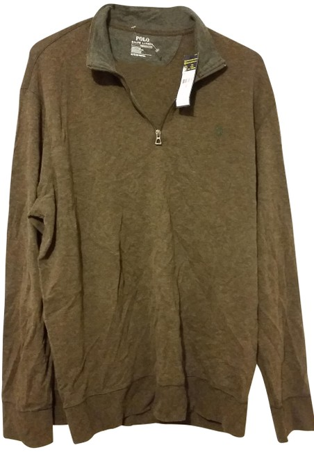 Item - Brown Sweater with Zipper Button-down Top Size 16 (XL, Plus 0x)