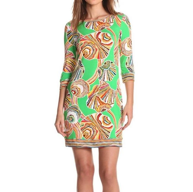 Trina Turk Bright Seashell Indio Print Short Casual Dress Size 2 (XS) Trina Turk Bright Seashell Indio Print Short Casual Dress Size 2 (XS) Image 1