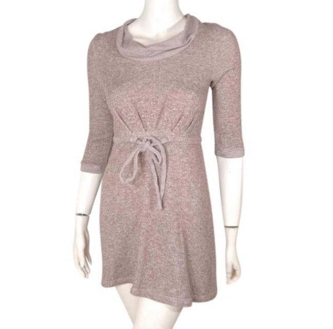 Anthropologie Tan Chatham Terry Short Casual Dress Size 8 (M) Anthropologie Tan Chatham Terry Short Casual Dress Size 8 (M) Image 1