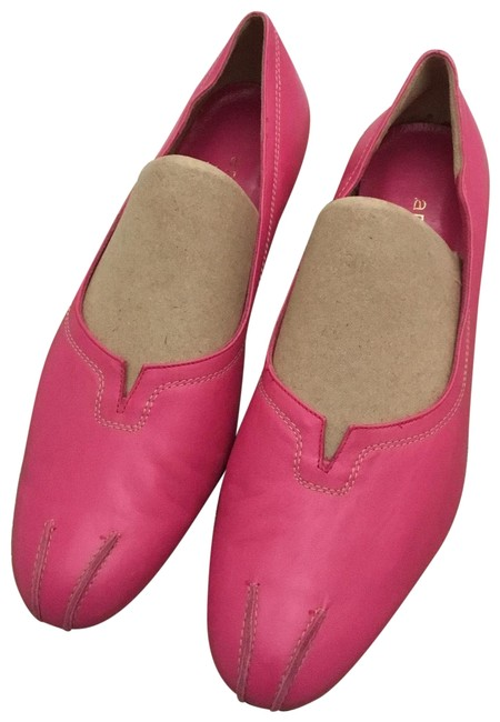Item - Pink Wedge Heel Leather Italy B Flats Size US 9.5 Regular (M, B)