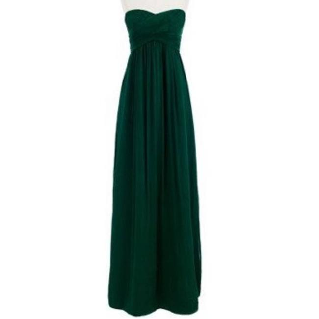 Item - Green I Silk Strapless Floor Length Gown Long Formal Dress Size Petite 0 (XXS)
