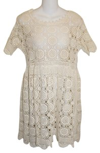 Commotion short dress Beige Lace Doilie Off White on Tradesy