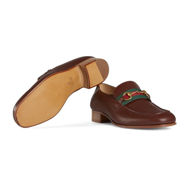 Item - Brown Horsebit Leather Loafer with Web Formal Shoes Size US 13 Regular (M, B)