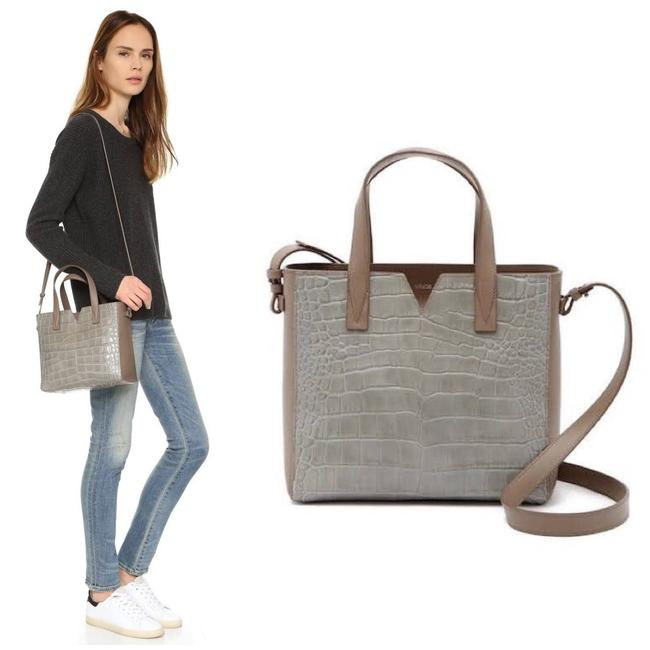 "Vince Bag Signature Baby ""V"" Gray Tote Vince Bag Signature Baby ""V"" Gray Tote Image 1"