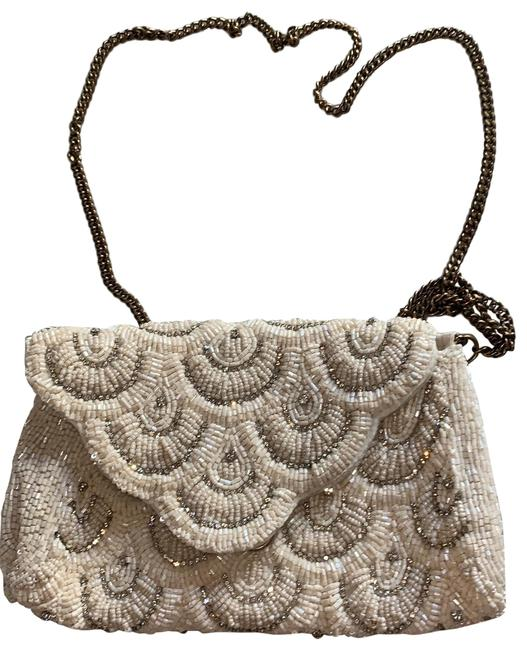 Item - Evening with Chain Link Strap Ivory Beads Clutch