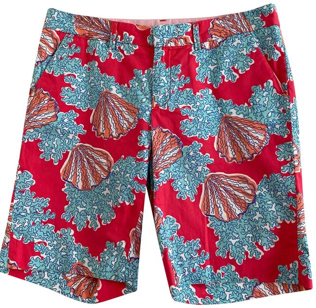 Item - Red Blue White The Avenue Coral Seashells Shorts Size 6 (S, 28)