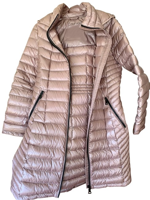 Item - Pearlized Pink/Light Brown Ck Down Puffer Coat Size 8 (M)