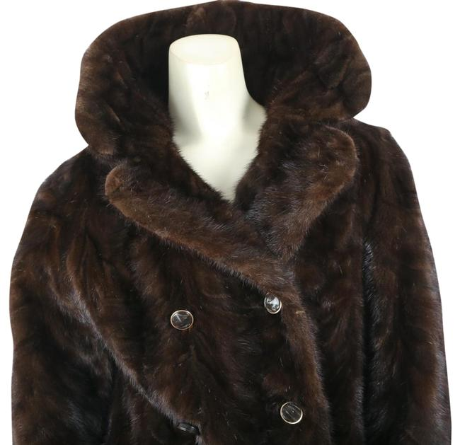Item - Brown Vintage Mink Double Breasted Midi Coat Size 6 (S)