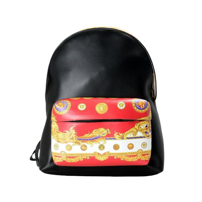 Item - Unisex Multi-color Leather/Canvas Backpack