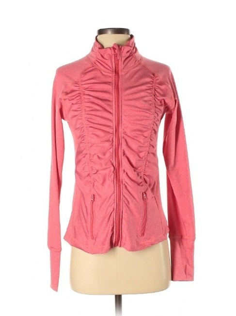 Item - Pink Coral Ruched Activewear Outerwear Size 6 (S)