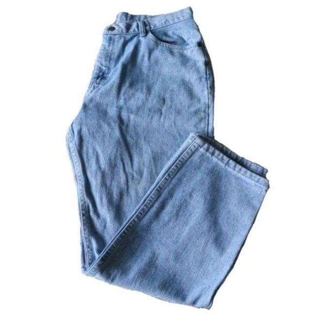 Item - Blue Light Wash High Rise Petite 14p Relaxed Fit Jeans Size 35 (14, L)