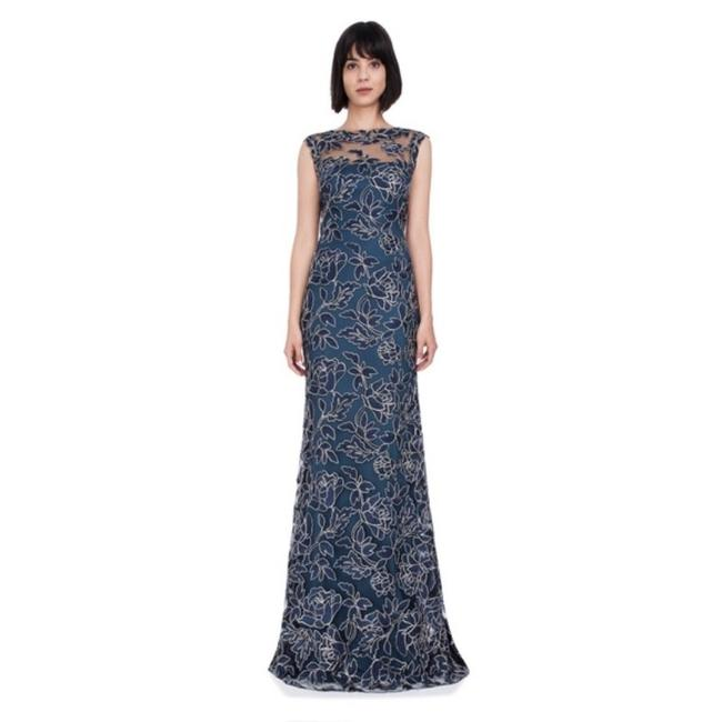 Item - Blue Gold Navy & High Neck Long Casual Maxi Dress Size 4 (S)