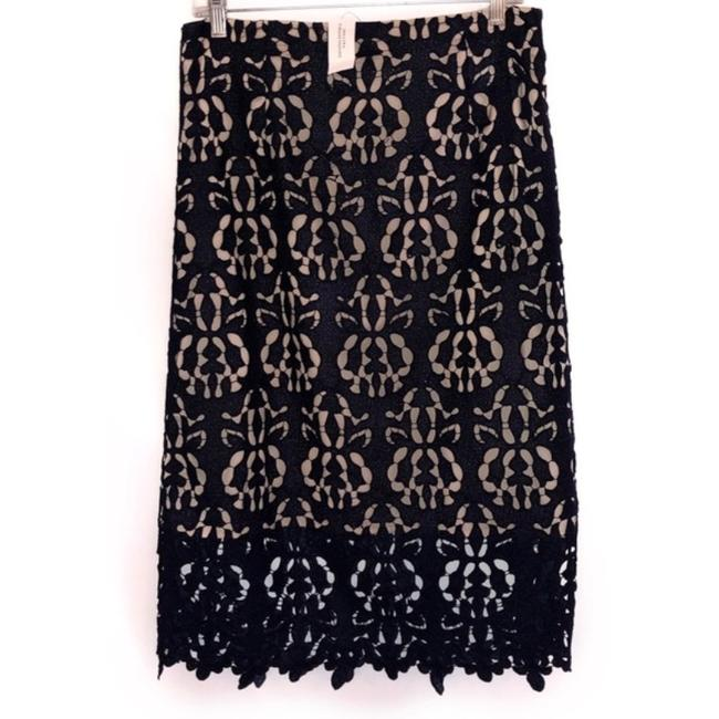Item - Navy Blue Luxe Lace Floral Pencil Skirt Size 6 (S, 28)