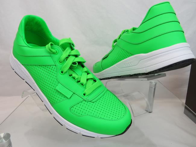 Item - Green Ipanema Mens Neon Leather Lace Up Running Sneakers 9.5 Us 10.5 Shoes