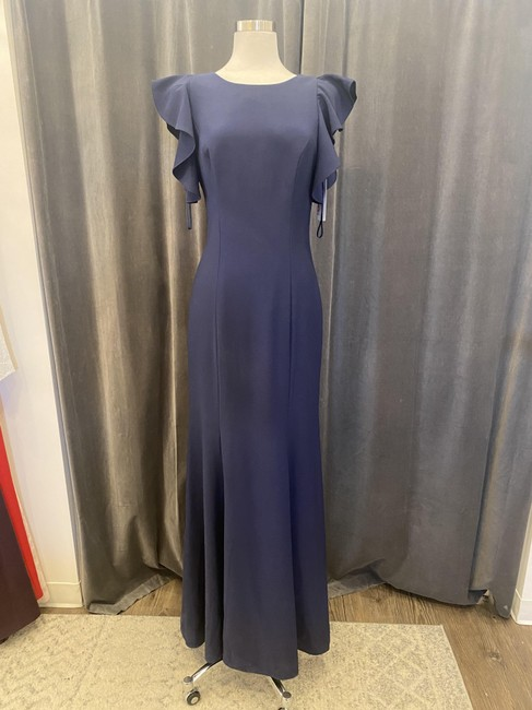 Item - Navy Crepe Selena 910203 Modest Bridesmaid/Mob Dress Size 8 (M)