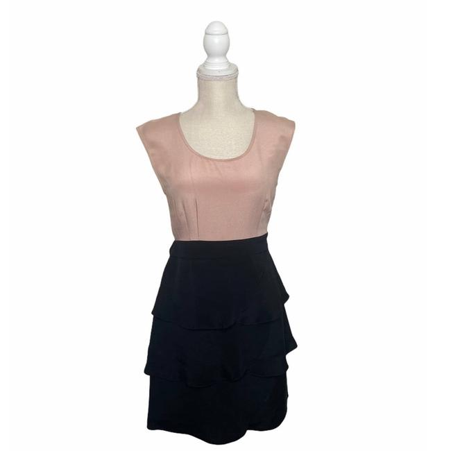 Item - Pink And Black Short Casual Dress Size 4 (S)