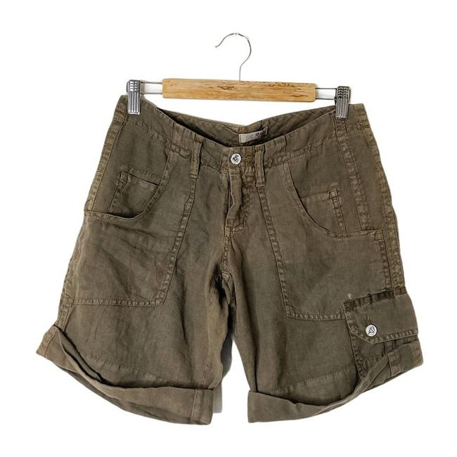 Item - Green Linen Shorts Size 4 (S, 27)