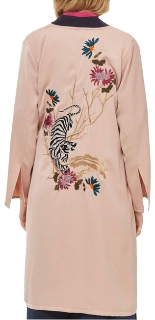 Item - Pink Tiger Embroidered Duster Coat Tunic Size 6 (S)