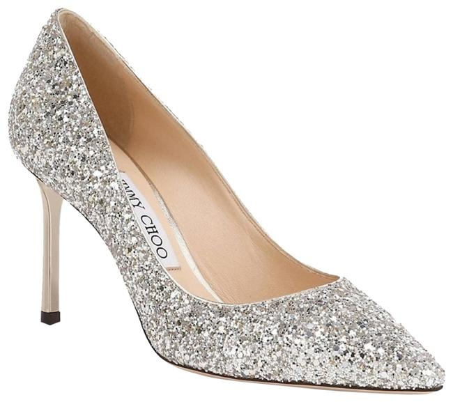 Item - Silver Romy 85 Glitter In Champagne Pumps Size EU 38.5 (Approx. US 8.5) Regular (M, B)