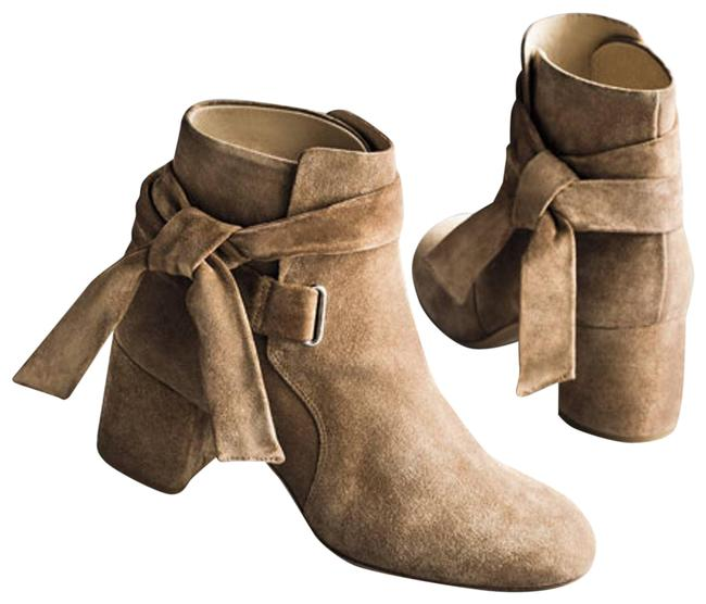 Item - Tan Dalia Ankle-tie Suede Ankle Boots/Booties Size EU 38 (Approx. US 8) Regular (M, B)
