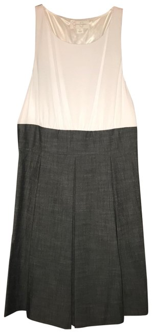 Item - White with Grey Blue Collection Jsoa1603 Short Casual Dress Size 12 (L)