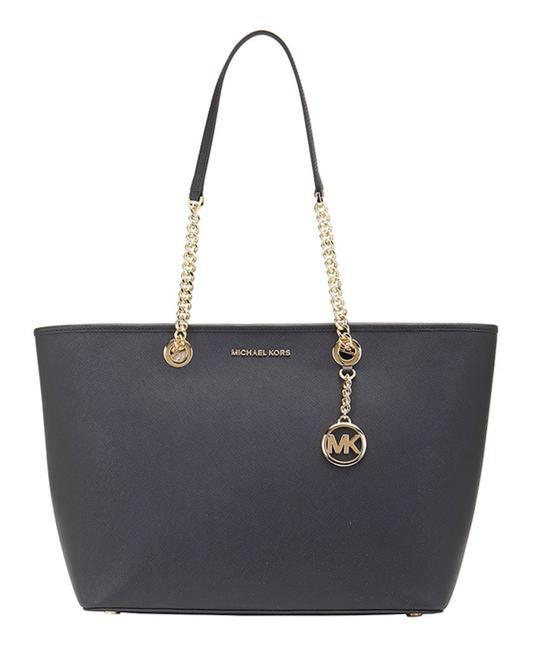 Item - Shania Large Ew Chain Black Leather Tote