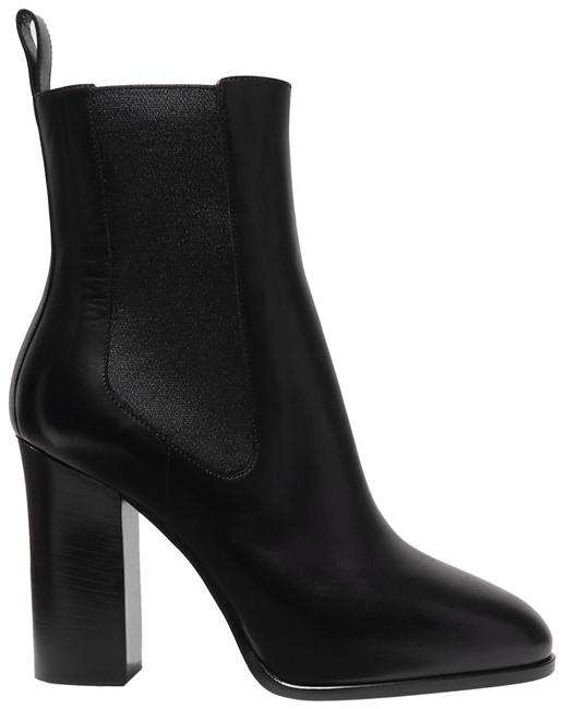 Item - Black Leather Chelsea Chunky Heel Ankle Boots/Booties Size EU 39 (Approx. US 9) Regular (M, B)