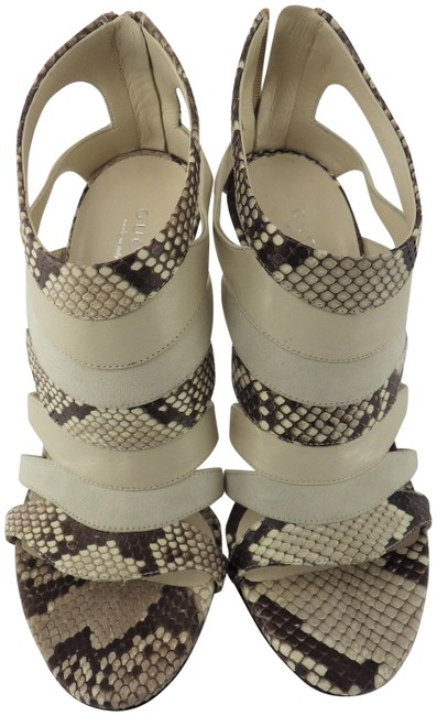 Item - White Heeled Sandals Size EU 36.5 (Approx. US 6.5) Regular (M, B)