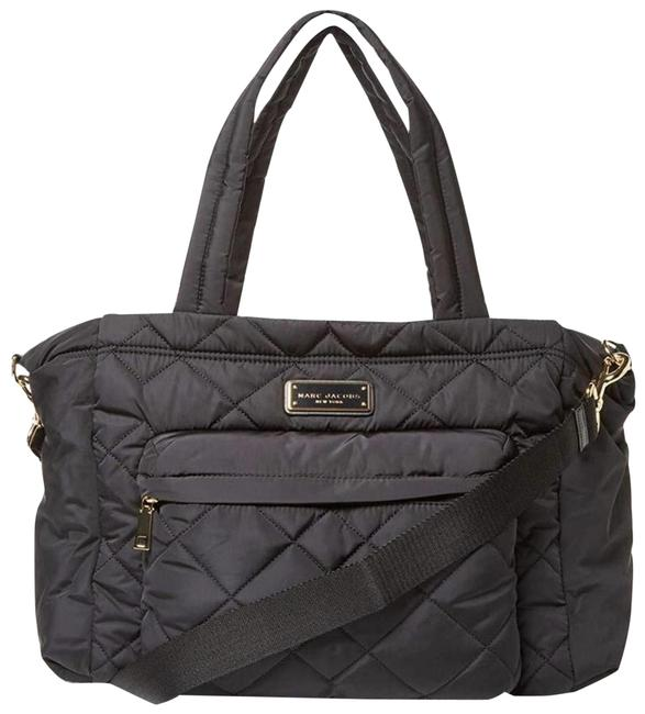 Item - Crosby Quilted Black Nylon Diaper Bag