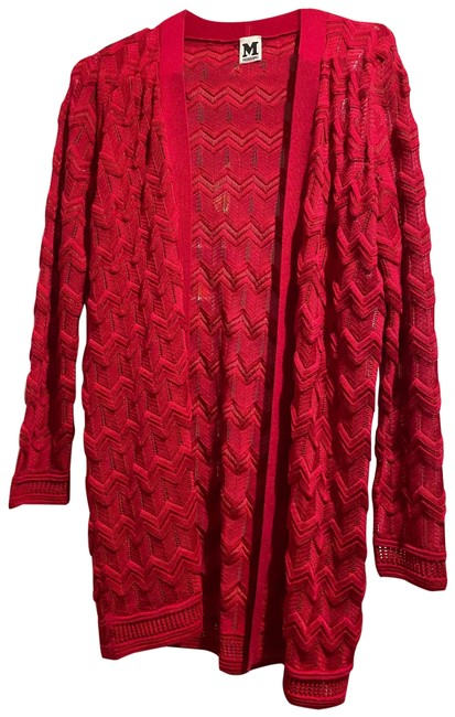 Item - Pink/Red Cardigan Poncho/Cape Size 6 (S)