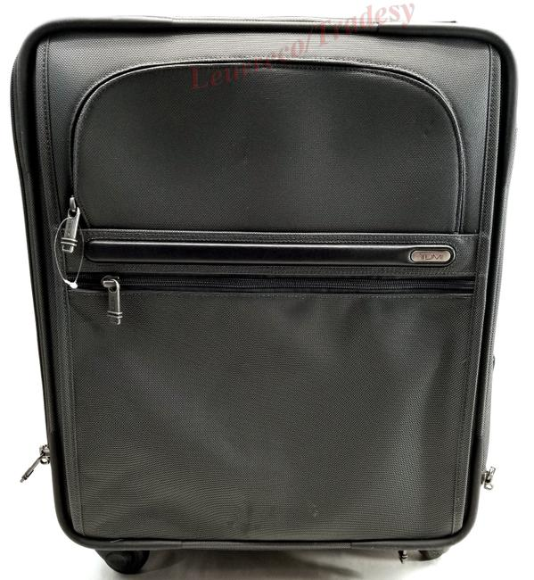 "Item - 4 Wheel 18"" Expandable Long Distance Trip Grey/Black Ballistic Nylon Weekend/Travel Bag"