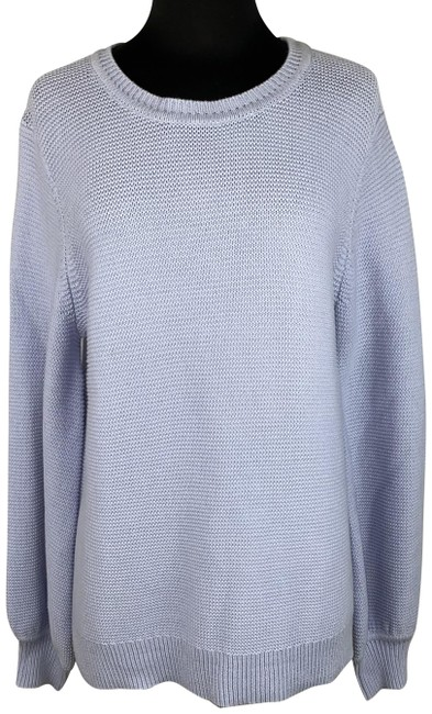 Item - L Long Balloon Like Sleeves Cotton Periwinkle Sweater