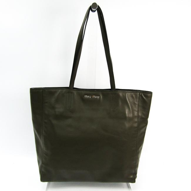 Item - Bag Vitello Soft R1914s Women's Khaki Leather Tote